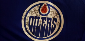 Oilers Autographed Shirt (NEW)