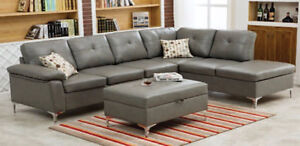 Sectionals fabric or leather on sale