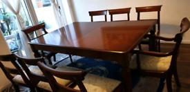 Original Charles Barr 8 seat, dining table set