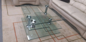 Swivel glass coffee table set/ delivery available