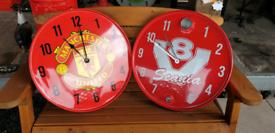 Oil drum clocks and seats fire service n.ireland R.N.L.I