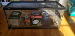 Reptile tank with extras