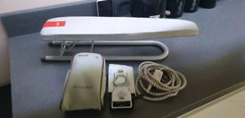 SMALL IRONING BOARD AND TRAVEL IRON MOTORHOME CAMPING OR CARAVAN
