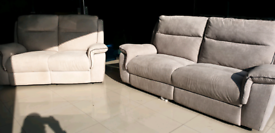 AHF EXPRESSION FABRIC RECLINER 3 SEATER 2 SEATER SOFA SET