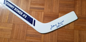 Autographed Johnny Bower Goalie Stick