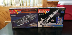 Puzz3D, 3D puzzles: aircraft carrier and Apollo rocket