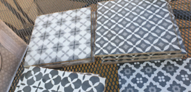 Mixed selection of tiles