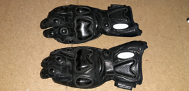 Motorcycle leather gloves.