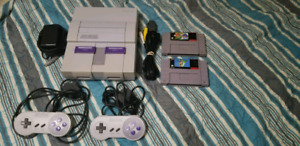 Super Nintendo system with 2 games -supermarioworld/yoshisisland