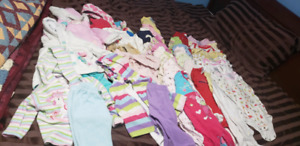 Lot of girl baby clothes. Size 3 to 9 months