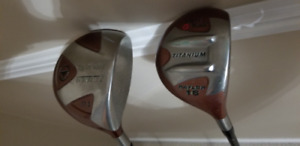 Taylormade Ti Bubble 2 Driver and Raylor Fairway Wood