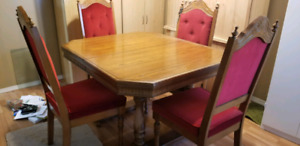 Antique chairs  and table set