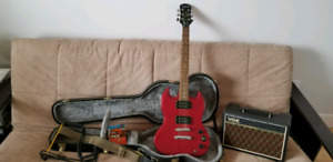 Epiphone Special SG Electric Guitar w/ Case, Amp, and More