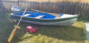 Good 12 foot Aluminum boat with 6hp Evinrude