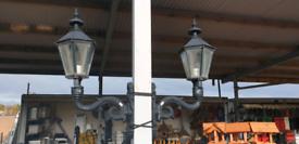 Cast aluminium garden lamps wall and pillar mounted