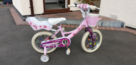 """Girls 14"""" wheel bike"""