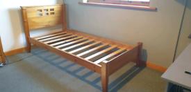 Glencraft single pine bed frame
