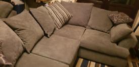 Corner sofa with armchair