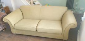Light olive green sofa