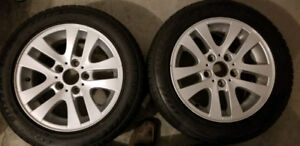 4 Blizzak Run-Flat Winter Tires/Rims (used for BMW 328XI)