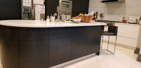 Fully Fitted Mowlem Kitchen DOORS inc Ceasar Stone Worktops