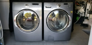 Duo laveuse sécheuse samsung frontale grise / washer dryer
