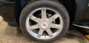 Cadillac Escalade Set Of 4 Tires & Rins
