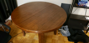 Solid Wood Dinning Table - $60.00