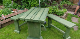 Patio Table and Benches