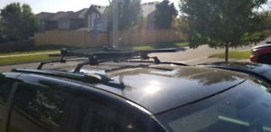 Roof mount bike rack
