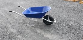 New galvanized frame & plastic tube garden and building wheelbarrows