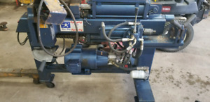 Exhaust pipe bender machine and lathes