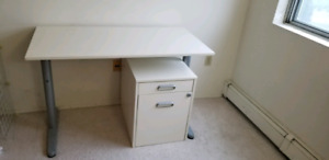 IKEA galant desk and filing cabinet