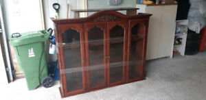 Wood Glass Display Case, cabinet, antique
