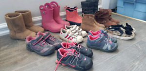 11 pairs of size 10 shoes