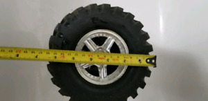 4 tires on rims, 14mm hex