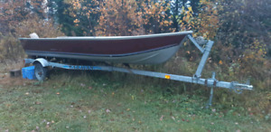 14' Princecraft boat and trailer