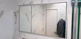 HiB bathroom mirror cabinet recessed