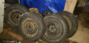 4 studded 215/70R16 winter tires