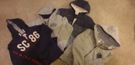 4 x boys soulcal full zip hoodies