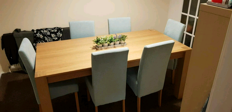 Phenomenal 6 Dining Chairs And Table Chairs Duck Egg Pale Blue In Peterlee County Durham Gumtree Cjindustries Chair Design For Home Cjindustriesco