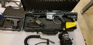 5 Paintball markers. All working. Accessories.(ghilli suit)
