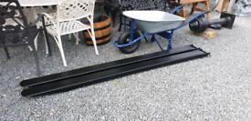 8ft long steel forklift extension long reach fork covers Hitachi jcb