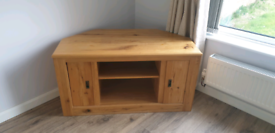 Oak TV Unit and Matching Coffee Table