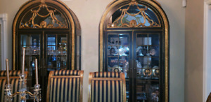 SET OF 3 HIGH END LUXURY CURIOS AND CREDENZA  $4,500