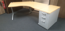 Steelcase executive office desks with matching desk