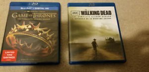 Game of thrones, walking dead season 2 bluray brand new