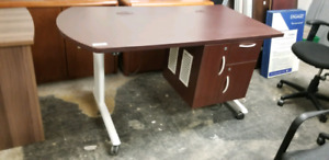 Desk with built in wiring