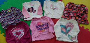 Girls winter shirts and onesies (size 18 months)