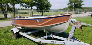 16' Thorne Aluminum boat, 18 Hp Nissan, 3500 lb Galv Trailer